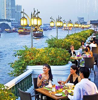 방콕 아난타라 방콕 리버사이드 테라스 (전통공연)