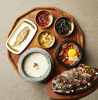 싱가포르 북창동 순두부찌개 세트 (저녁식사)