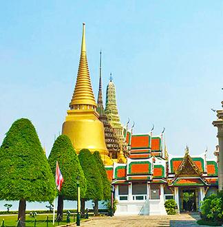 방콕 오후 왕궁 + 에메랄드사원 + 새벽사원 투어 (보트포함)