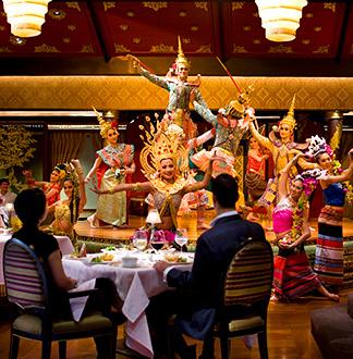 방콕 만다린 오리엔탈 살라 림 남 레스토랑 (전통공연)