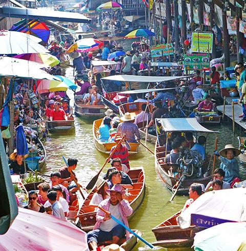태국 방콕여행 담넌사두억 반나절 투어 (픽업/샌딩 포함)