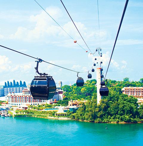 싱가포르 센토사 케이블카 왕복 이용권 티켓
