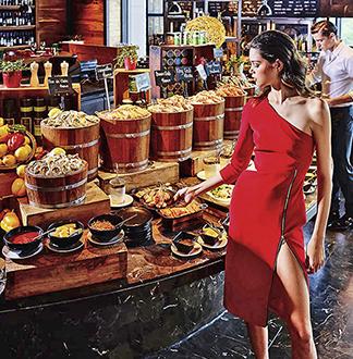 방콕 소피텔 소 레드오븐 뷔페 레스토랑