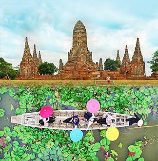 방콕 단독택시 연꽃정원 + 아유타야 1일 투어 (픽업/샌딩 포함)