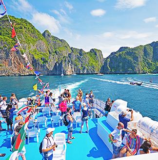푸켓 피피섬 여객선 티켓 + 1일 투어 (픽업/샌딩 포함)