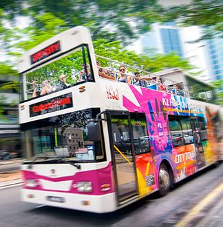 쿠알라룸푸르 Hop - On Hop - Off 시티투어 버스 탑승권 (24/48시간)