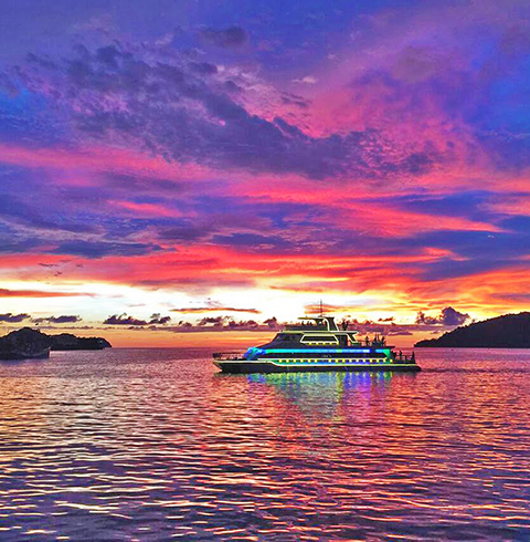 코타키나발루여행 북 보르네오 선셋 크루즈 (픽업/샌딩 포함)
