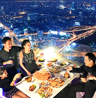 방콕 바이욕 스카이 뷔페